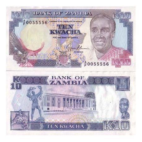 Zambie - Pk N° 31 - Billet de 10 Kwacha