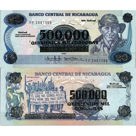 Billets de collection Nicaragua - Pk N° 163 - Billet de banque de 500000 sur 20 Cordobas Billets du Nicaragua 4,00 €