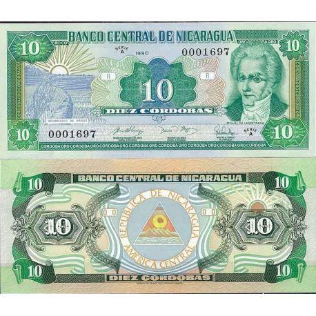 Billets de collection Nicaragua - Pk N° 175 - Billet de banque de 10 Cordobas Billets du Nicaragua 5,50 €