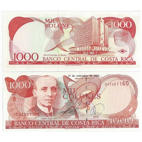 Costa Rica - Pk N° 240B - Billet de banque de 1000 Colones
