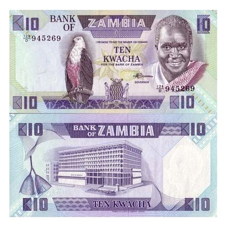 Billet de collection Zambie Pk N° 26 - 10 Kwacha