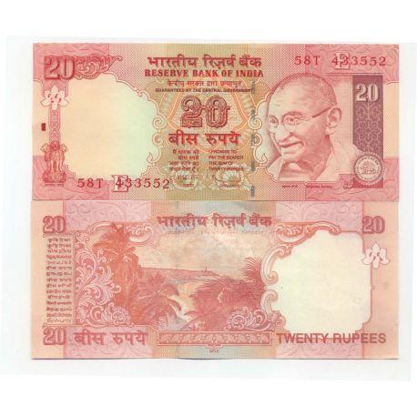 Billets de collection Inde - Pk N°96- Billet de banque de 20 Rupee Billets d'Inde 4,00 €