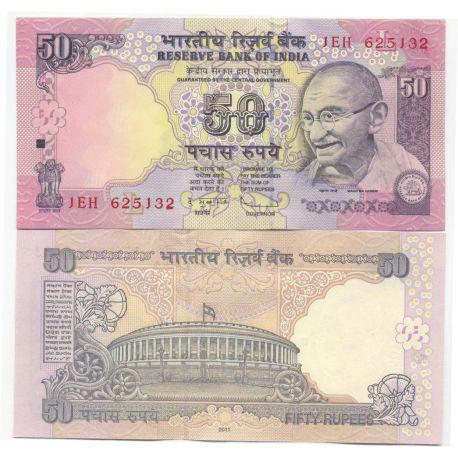 Billets de collection Billets de banque Inde Pk N° 97 - 50 Rupee Billets d'Inde 5,00 €