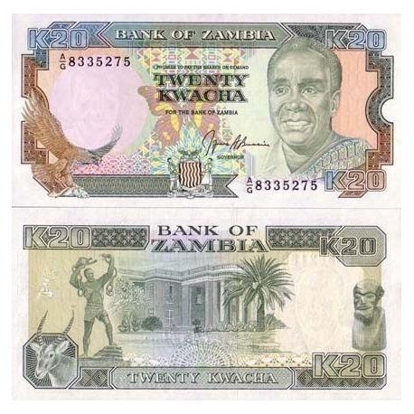 Zambie - Pk N° 32 - Billet de 20 Kwacha