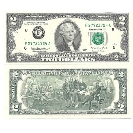 Etats Unis - Pk N° 497 - Billet de banque de 2 DOLLAR