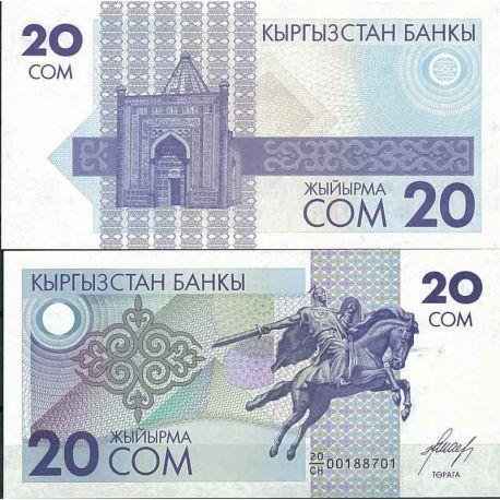 Kirghizstan - Pk N° 6 - Billet de banque de 20 Som