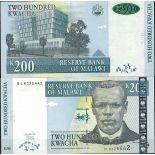 Collezione di banconote Malawi Pick numero 47 - 200 Kwacha