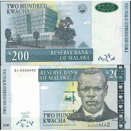 Malawi - Pk N° 47C - Billet de banque de 200 Kwacha