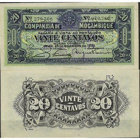 Billets de collection Mozambique - Pk N° 29 - Billet de banque de 20 Meticais Billets du Mozambique 10,00 €