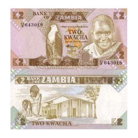 Zambie - Pk N° 24 - Billet de 2 Kwacha