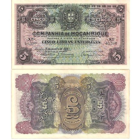 Mozambique - Pk N° 32 - Billet de banque de 5 Escudos