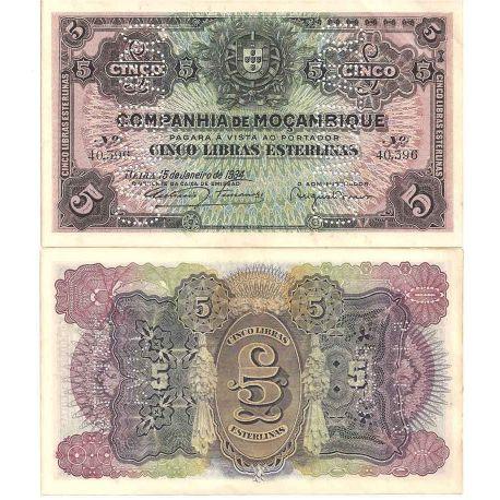 Billets de collection Mozambique - Pk N° 32 - Billet de banque de 5 Escudos Billets du Mozambique 19,00 €