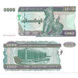 Schone Banknote Myanmar Pick Nummer 77 - 1000 Kyat