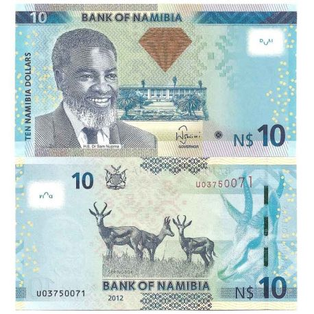 Billets de collection Namibie - Pk N° 16 - Billet de banque de 10 Dollars Billets de Namibie 5,00 €