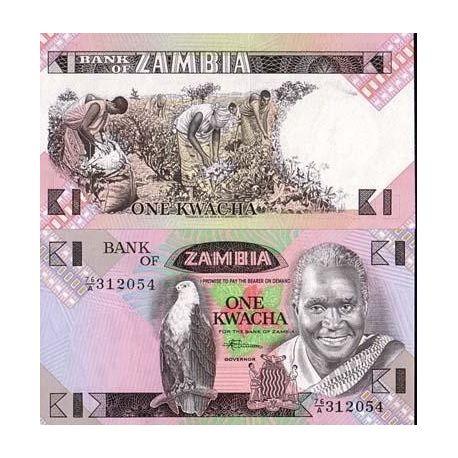 Zambie - Pk N° 23 - Billet de 1 Kwacha