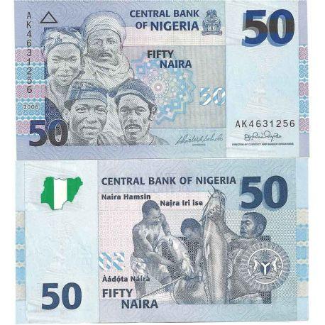 Billets de banque Nigeria Pk N° 35 - 50 Naira