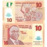 Collection of Banknote Nigeria Pick number 33 - 10 Naira 2005