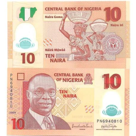 Billets de collection Billets collection Nigeria Pk N° 33 - 10 Naira Billets du Nigeria 2,00 €