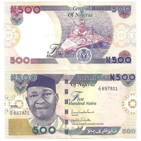 Billets de collection Nigeria - Pk N° 30 - Billet de 500 Naira Billets du Nigeria 25,00 €