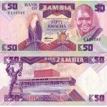 Billets collection Zambie Pk N° 28 - 50 Kwacha