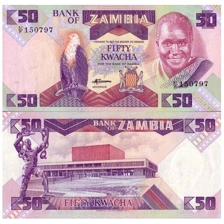 Billets collection Zambie Pk N° 28 - 50 Kwacha