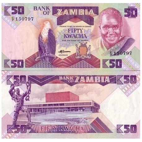 Zambie - Pk N° 28 - Billet de 50 Kwacha