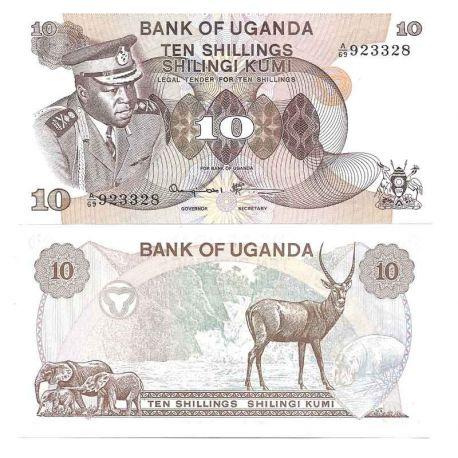 Ouganda - Pk N° 6C - Billet de banque de 10 Shillings
