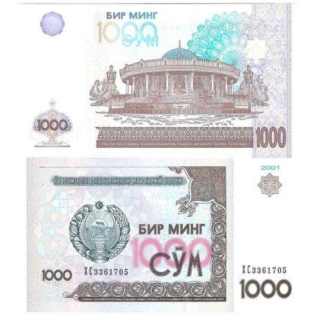 Billets de collection Ouzbekistan - Pk N° 82 - Billet de banque de 1000 Sum Billets d'Ouzbekistan 2,50 €