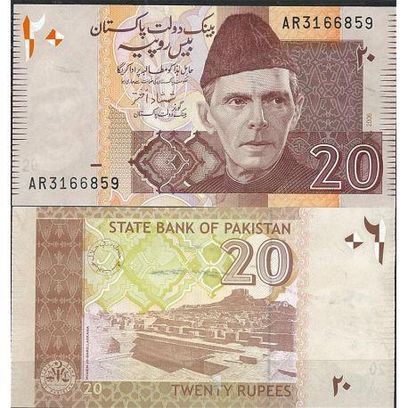 Pakistan - Pk N° 46 - Billet de banque de 20 Ruppees