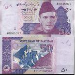 Collezione di banconote Pakistan Pick numero 47 - 50 Roupie