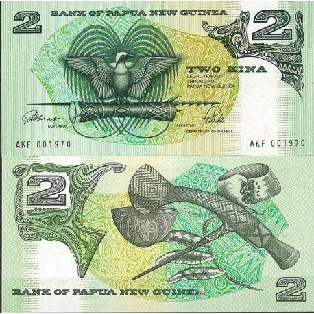 Papouasie Nlle Guinee - Pk N° 12 - Billet de banque de 2 Kina (Plast)