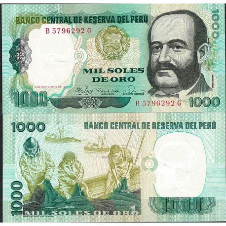 Perou - Pk N° 122 - Billet de banque de 1000 Soles