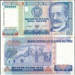Billet de banque Perou Pk N° 147 - de 500000 Intis