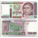 Collection of Banknote Peru Pick number 148 - 1000000 Sol