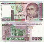 Sammlung von Banknoten Peru Pick Nummer 148 - 1000000 Sol