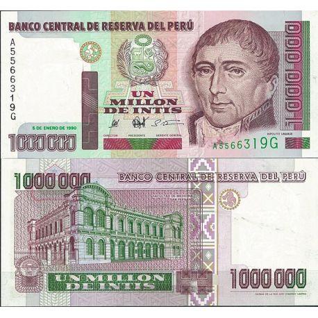 Perou - Pk N° 148 - Billet de banque de 1 Million Intis
