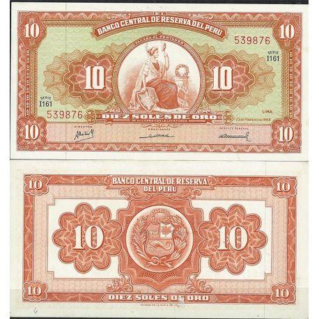 Perou - Pk N° 84 - Billet de banque de 10 Soles