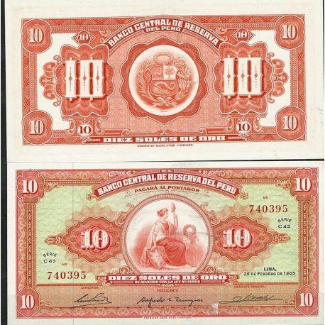 Perou - Pk N° 88 - Billet de banque de 10 Soles