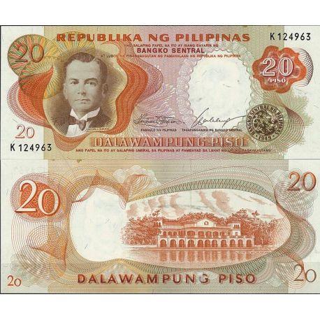 Billets de collection Billet de banque Philippines Pk N° 145 - de 20 Pesos Billets des Philippines 7,00 €