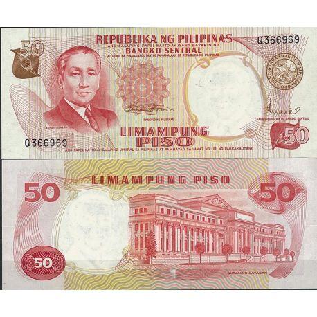 Billets de collection Billet de banque Philippines Pk N° 146 - de 50 Pesos Billets des Philippines 7,00 €