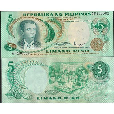Billets de collection Billet de banque Philippines Pk N° 148 - de 5 Pesos Billets des Philippines 7,00 €
