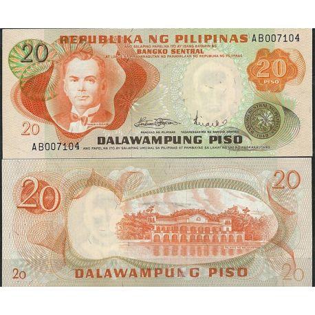 Billets de collection Billet de banque Philippines Pk N° 150 - de 20 Pesos Billets des Philippines 3,00 €