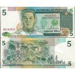 Billet de banque Philippines Pk N° 168G - de 5 Piso
