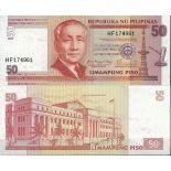 Billet de banque Philippines Pk N° 193 - de 50 Pesos