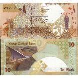 Banconote Qatar Pick numero 22 - 10 Riyal