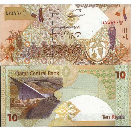 Billet de banque Qatar Pk N° 999 - de 10 Riyals