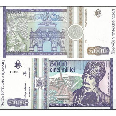 Billets de collection Billet de banque Roumanie Pk N° 104 - de 5000 Lei Billets de Roumanie 9,00 €