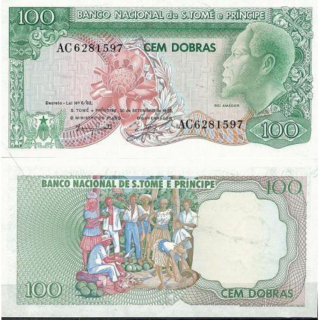 Saint Thomas & Prince - Pk N° 57 - Billet de banque de 100 Dobras
