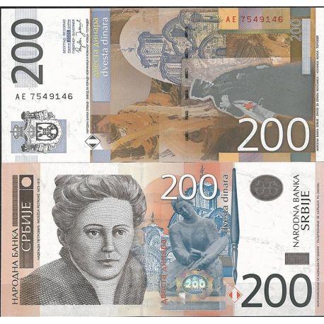 Serbie - Pk N° 42 - Billet de banque de 200 Dinara