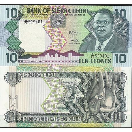 Billets de collection Billet de banque Sierra Leone Pk N° 16 - de 20 Leones Billets de Sierra Leone 7,00 €